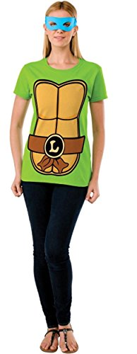 Leonardo Teenage Mutant Ninja Turtles Ladies Costume T-shirt & Mask