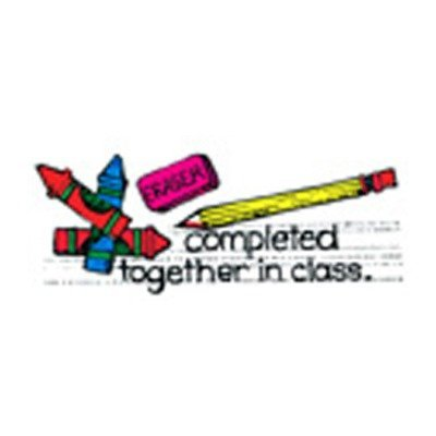 Sold Individually As 1 Each - Rubber Stamp: Completed Together in Class; no. CE-B262