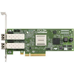 Emulex LightPulse LPe12002 Fibre Channel Host Bus Adapter. LPE12002-M8 2CH 8GB PCIE 3.3/5V FC HBA LOW PROFILE W/STD BRACKET FIBR-C. 2 x LC - PCI Express 2.0 - 8Gbps
