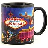 Las Vegas Coffee Mug Metallic Collage Fabulous Red Building