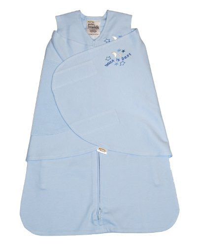 Halo Innovations Sleepsack Swaddle 100% Cotton, Baby Blue, Small