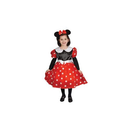 Pretend Deluxe Ms Mouse Child Costume Dress-Up Set Size 12-14