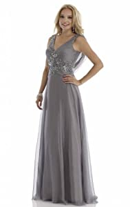 V-neck Applique Lace  Beaded Crystal Crystals Chiffon/Taffeta/Tulle Mermaid Quinceanera Dress  With a Bow(s)