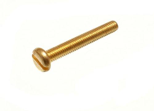 2000 X Solid Brass Machine Screws Pan Head Slotted M3 3Mm X 20Mm