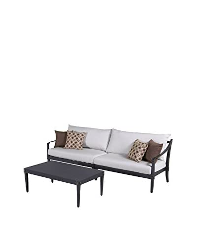 RST Brands Astoria 3-Piece Sofa and Coffee Table Set, Cream
