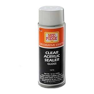 plaid mod podge 1470 12 ounce clear acrylic On clear sealant for crafts