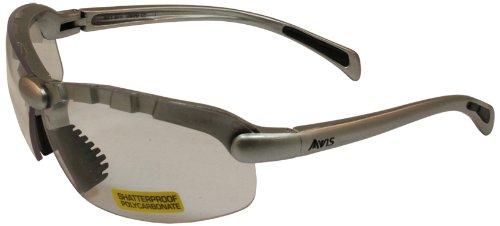 Global Vision C-2 Safety Shop Glasses (Silver Frame/Clear Lens)