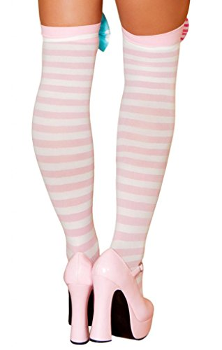 Sexy Striped Thigh High Stockings Halloween Accessory
