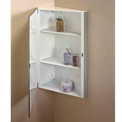 Jensen 860P30CH Corner Medicine Cabinet, 16-Inch by 30-Inch, Stainless Steel