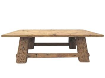 Tiempo de China Colonial clásico rústico mesa macizo de pino oscuras