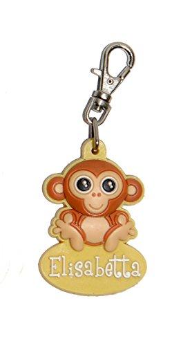 Zippolotti Scimmietta Tira zip personalizzato Elisabetta