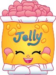2014 SHOPKINS FIGURES Shopping Bag - JELLY B #063 SEASON 1 - RARE