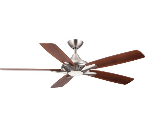 Minka Aire F1000-BN One Light LED Brushed Nickel Ceiling Fan