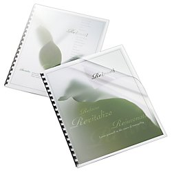 Office Depot Binding Cover, 8 1/2in. x 11in., Clear Gloss, Pack Of 20, 25872
