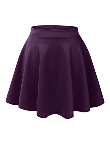 Womens Versatile Stretchy Flared Skater Skirt - many colors.