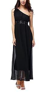 Bepei Damen Chiffon Langes Abendkleid Cocktailkleid Brautjungfernkleid Festkleid Größe 36-46