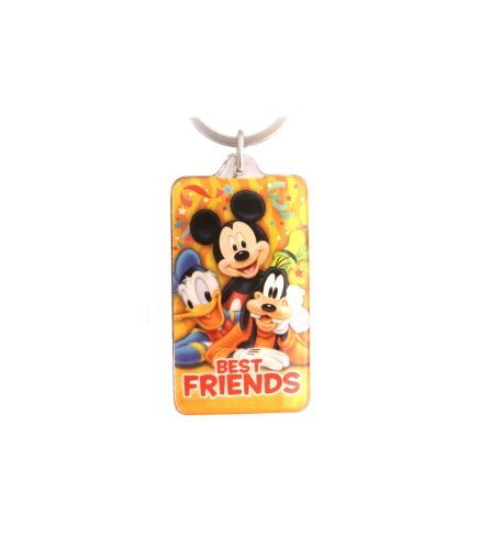 Disney Mickey and Gang Party Lucite Key Ring