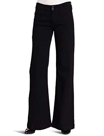 Levi's Women's Double Button Wide Leg Jean, Dark Night, 8 Medium