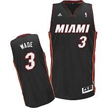 Youth Size Dwyane Wade Miami Heat #3 Jersey Black Swingman Revolution 30 Sewn Letters & Numbers (Youth Medium Size 10-12)