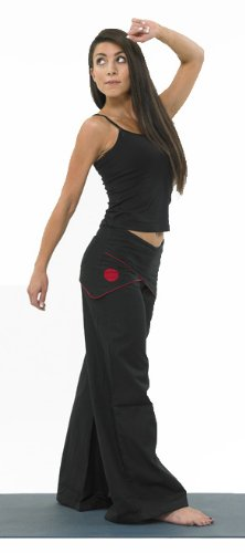 Tribal Earth Cotton Yoga Trousers With Beautiful Cross Over
