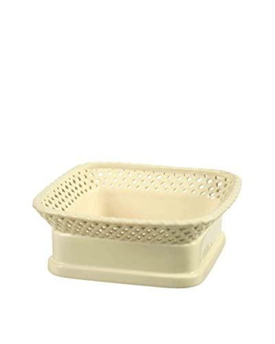 Winward Designs Stoneware Square Fruit Bowl, Cream