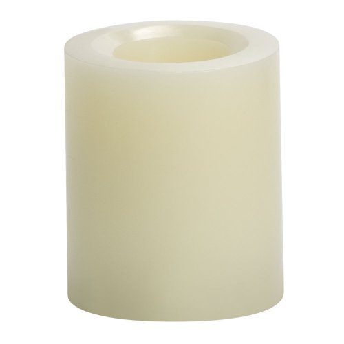 Candle Impressions Cat55090Cr00 4-Inch Smooth Flameless Candle, Unscented, Cream