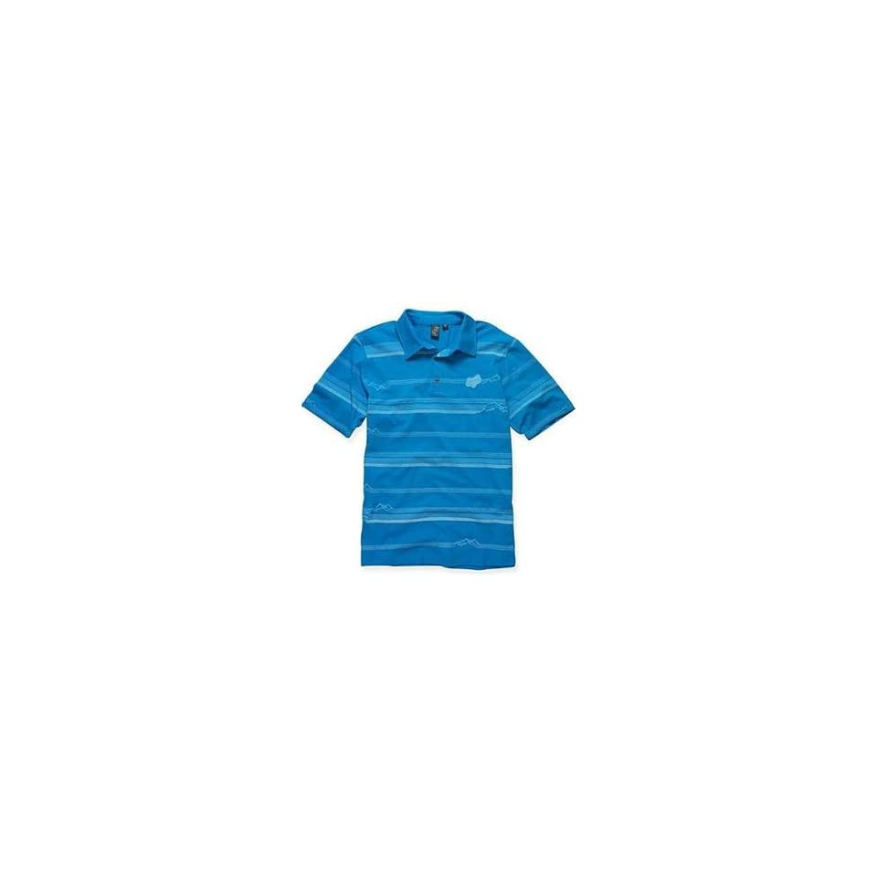 Fox Racing Transmission Polo   Small/Electric Blue