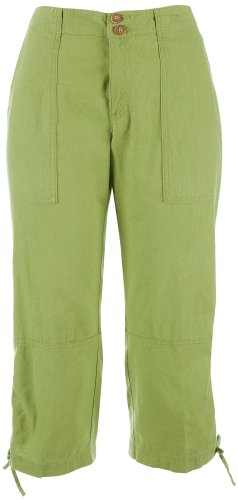 31kd%2BAJvfhL ~ Skyes The Limit Linen Ruched Leg Capris ALOE GREEN 12 Discount !!