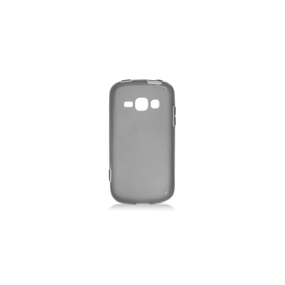 Black Clear Frosted Flex Cover Case for Samsung Galaxy Prevail 2 Boost Ring Virgin SPH M840 Cell Phones & Accessories