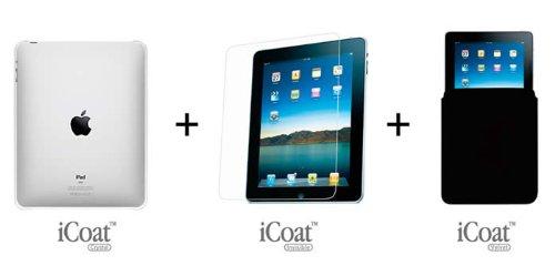 OZAKI iPad用クリアケース 液晶保護フィルム インナーケース 3点セットファーストキット IPK102
