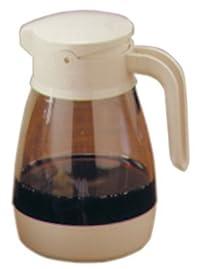 Service Ideas SY916AL Syrup Dispenser, 16 oz, Almond/Clear