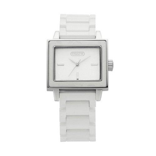 Coach Lady Women Amanda White Ceramic Bracelet Watch 14501366 Stunning
