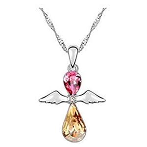 LuxuryLady-3 Angel Wings Pendant Simple Fashion Women Female Chain(C3)