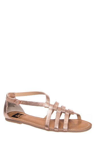 BC Footwear At Large Ankle Strap Flat Sandal - Rosegold