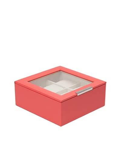 WOLF 6-Watch Lidded Box, Coral