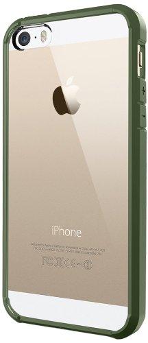 国内正規品SPIGEN SGP iPhone5S/5 ケース ウルトラハイブリッド (エアクッション) (日本製液晶保護フィルム付き) (エコパッケージ) [オリーブ・グリーン] SGP10778