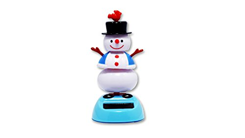 Solar Powered Bobblehead Toy Figure - Dancing Snowman - 1
