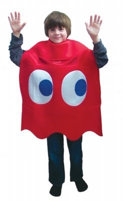 Pac-Man Blinky Deluxe Child Costume (As Shown;One Size)