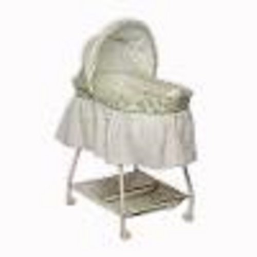 New Delta Sweet Beginnings Bassinet with Vibration, Music, and Night Light-Neutral