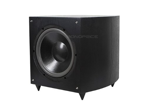 Monoprice 12 Inch 150 Watt Powered Subwoofer, Black (109723)