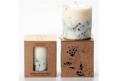 Ashberry And Bilberry Soy Wax Candle by Munio Candela