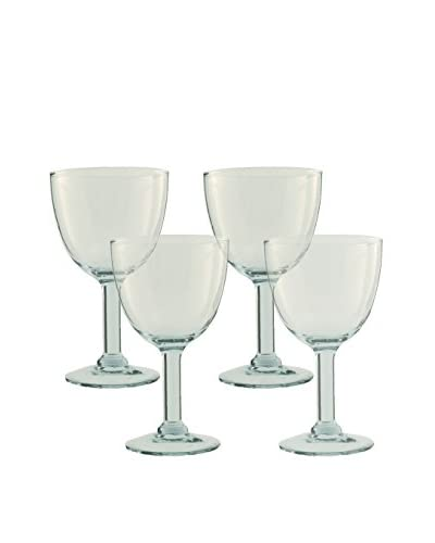 Be Home Set of 4 Small 6-Oz. Recycled Footed Glasses, Clear As You See