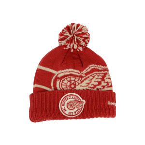 Detroit Red Wings Reebok 2014 Winter Classic Goalie Cuffed Knit Hat Cap