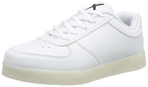 wize & opeLED - Scarpe da Ginnastica Basse Unisex - Adulto , Bianco (Weiß (white 01)), 43