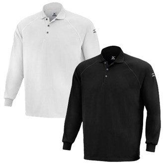 Mizuno Mens DryLite Long Sleeve Polo Shirt Mens XXL Silver Mens XXL Silver