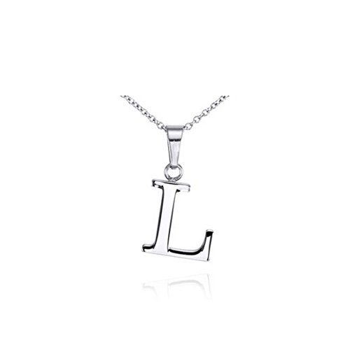 """925 Sterling Silver Letter """"L"""" Pendant Necklace 18 Inches"""