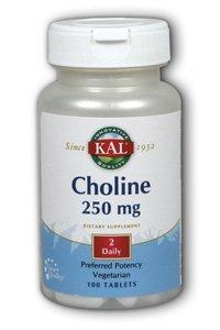 KAL Choline Tablets, 250 mg, 100 Count