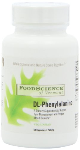 Food Science Of Vermont Dl-Phenylalanine Capsules, 60 Count