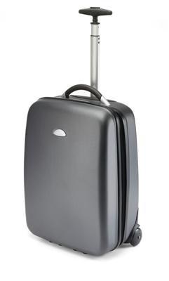 Business Trolley Koffer mit durchgehendem Reissverschluss