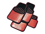 4 Piece Heavy Duty Red Metallic Mat Set Nissan Pixo